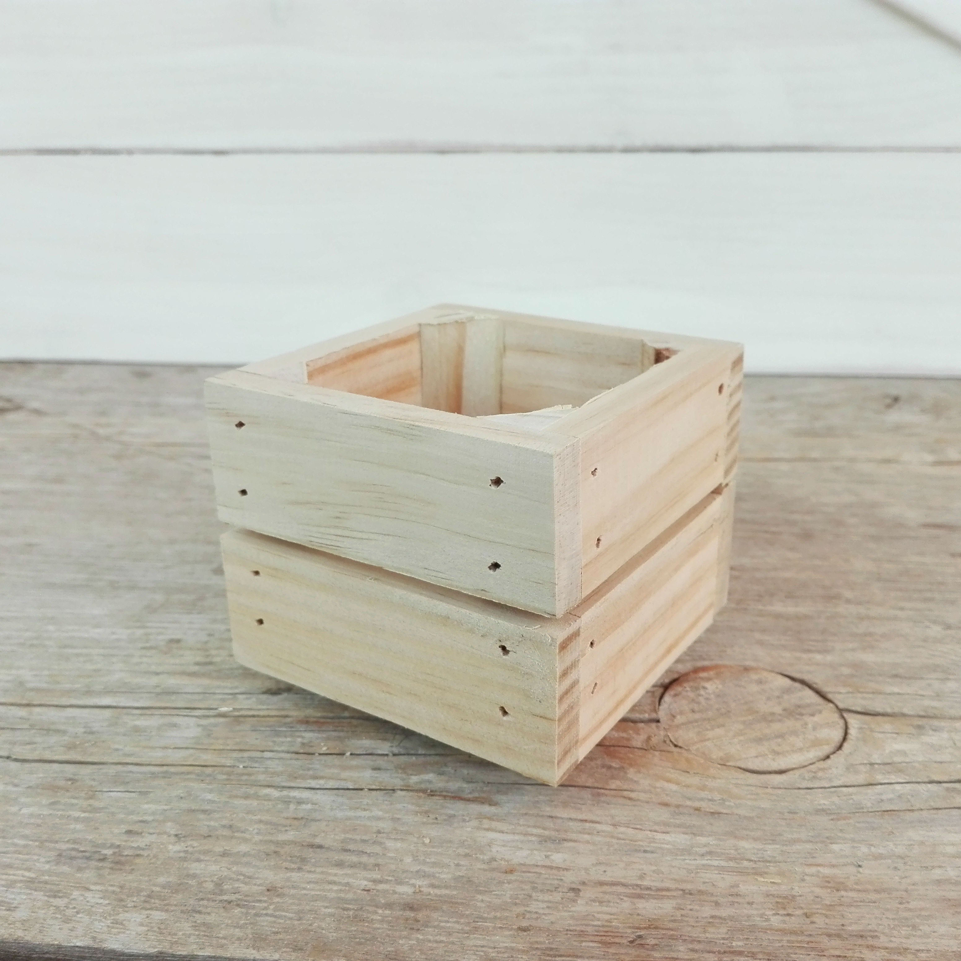 Caja de madera peque a - Cajas de madera para decorar baratas ...