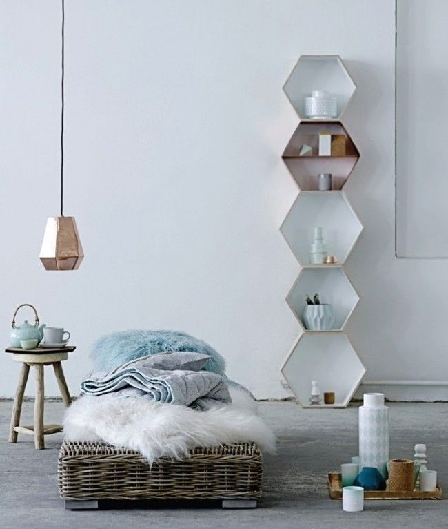 estante hexagonal decoracion