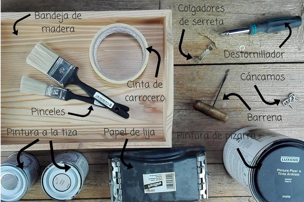 bandeja colgador de madera