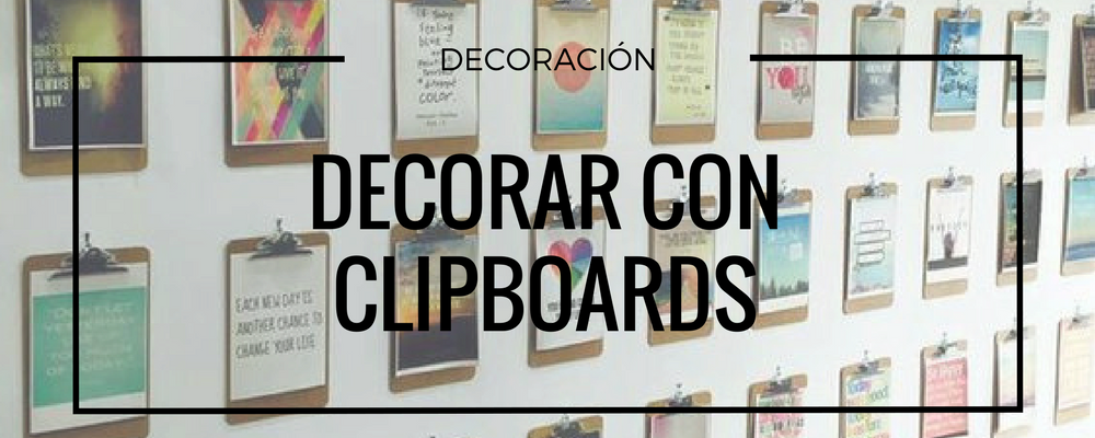 decorar con clipboards madera