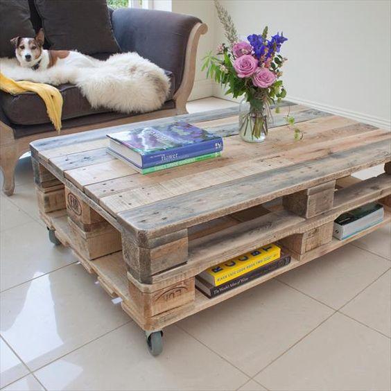 mesa de centro palet