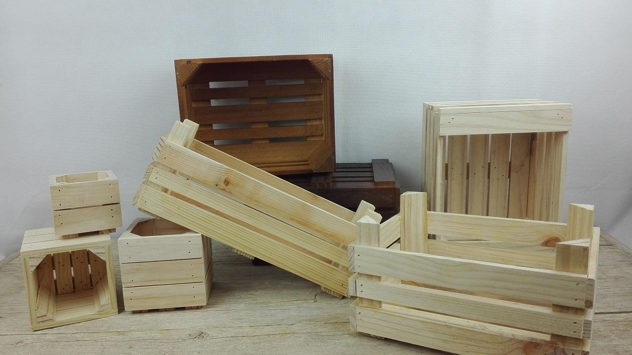 cajas madera maceteros