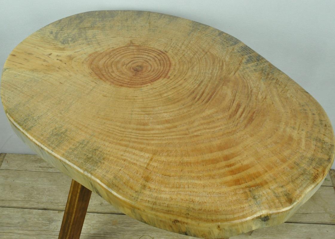 rodaja pino rustico taburete