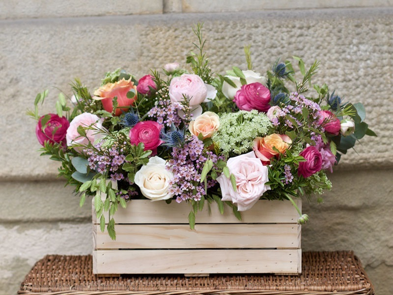 cajas madera floristeria