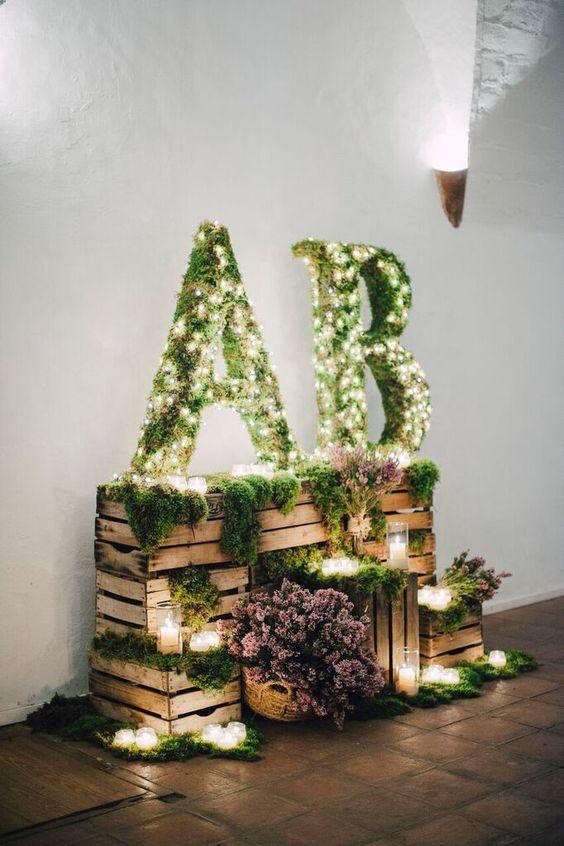 Caja de madera para bodas