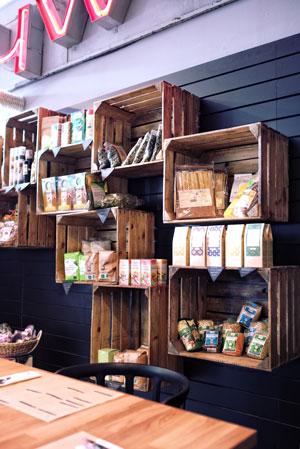 caja de madera restaurante