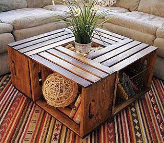 Cajas de madera mesa