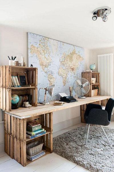 cajas de madera escritorio