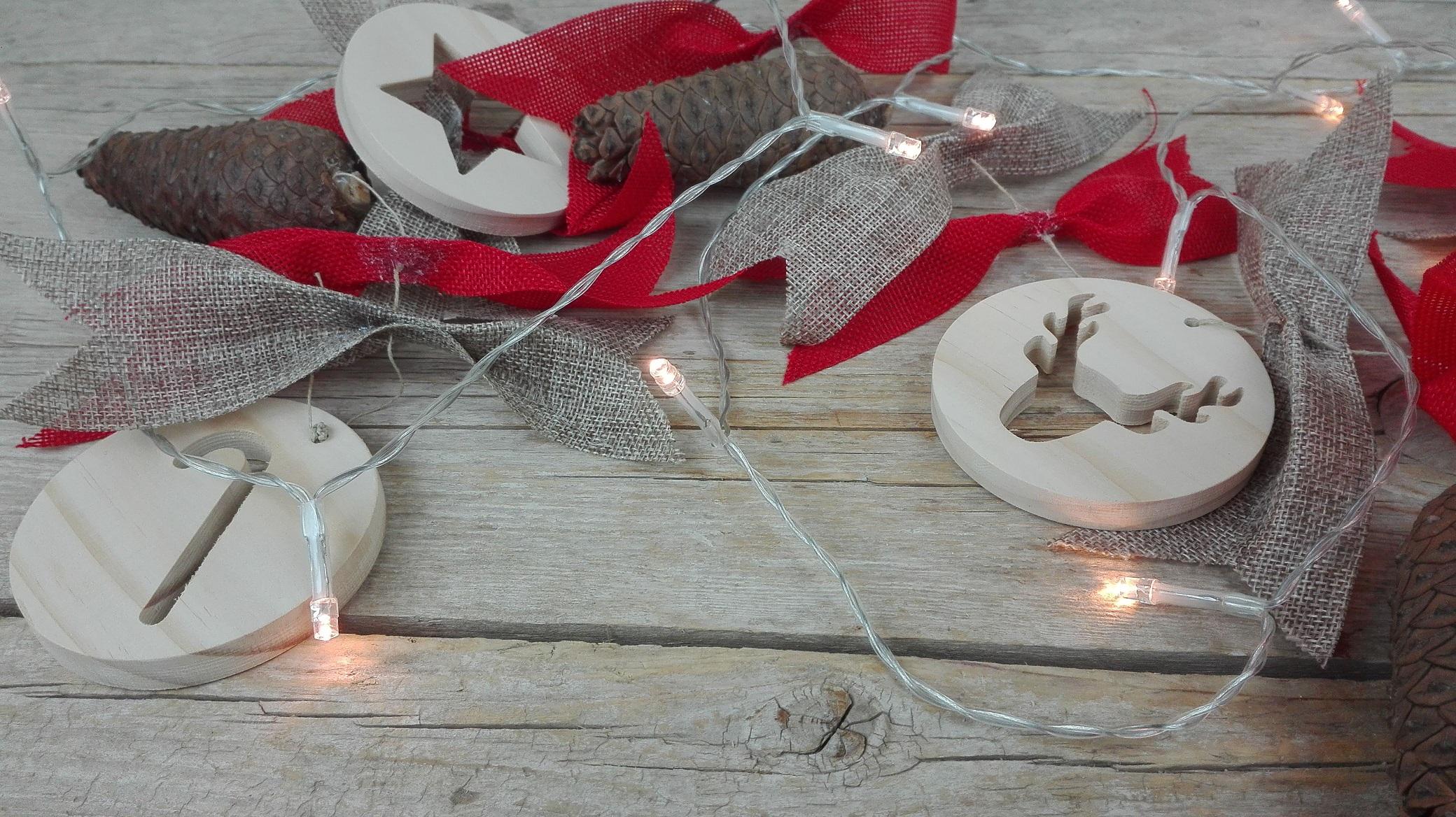 guirnalda navidad madera
