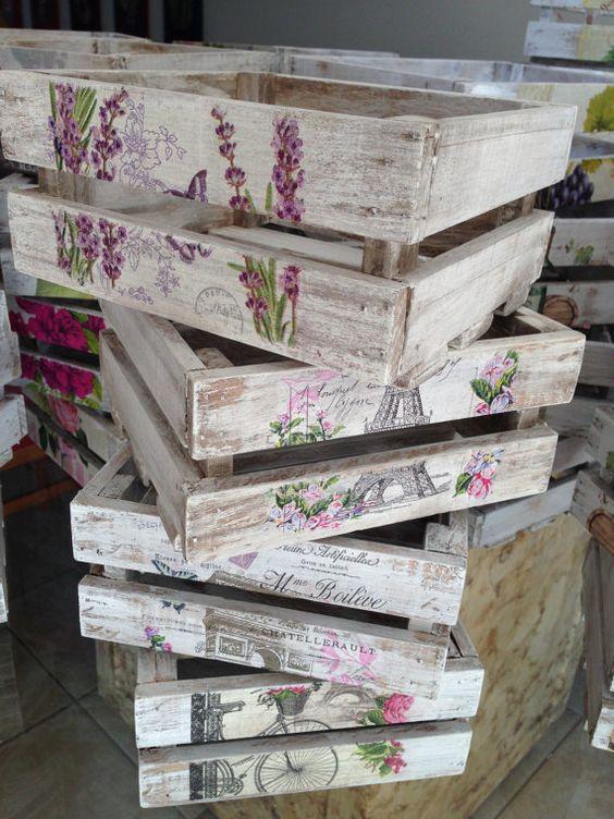 cajas madera decoupage
