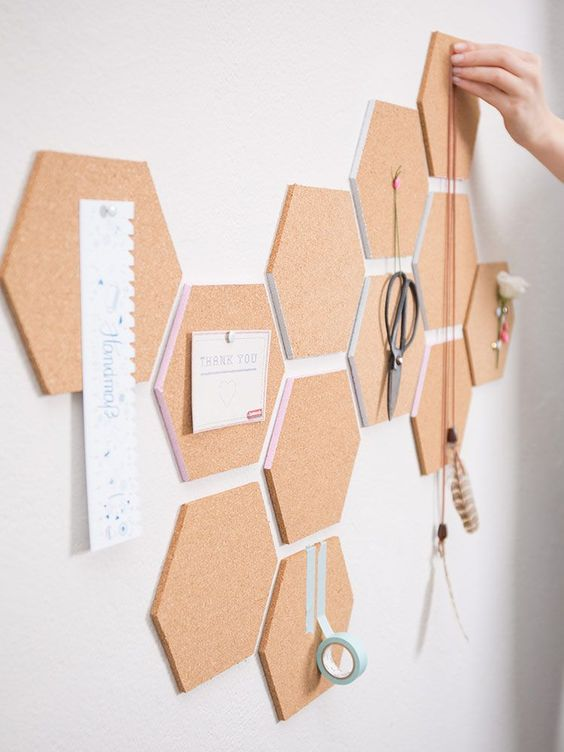 decoracion hexagonal