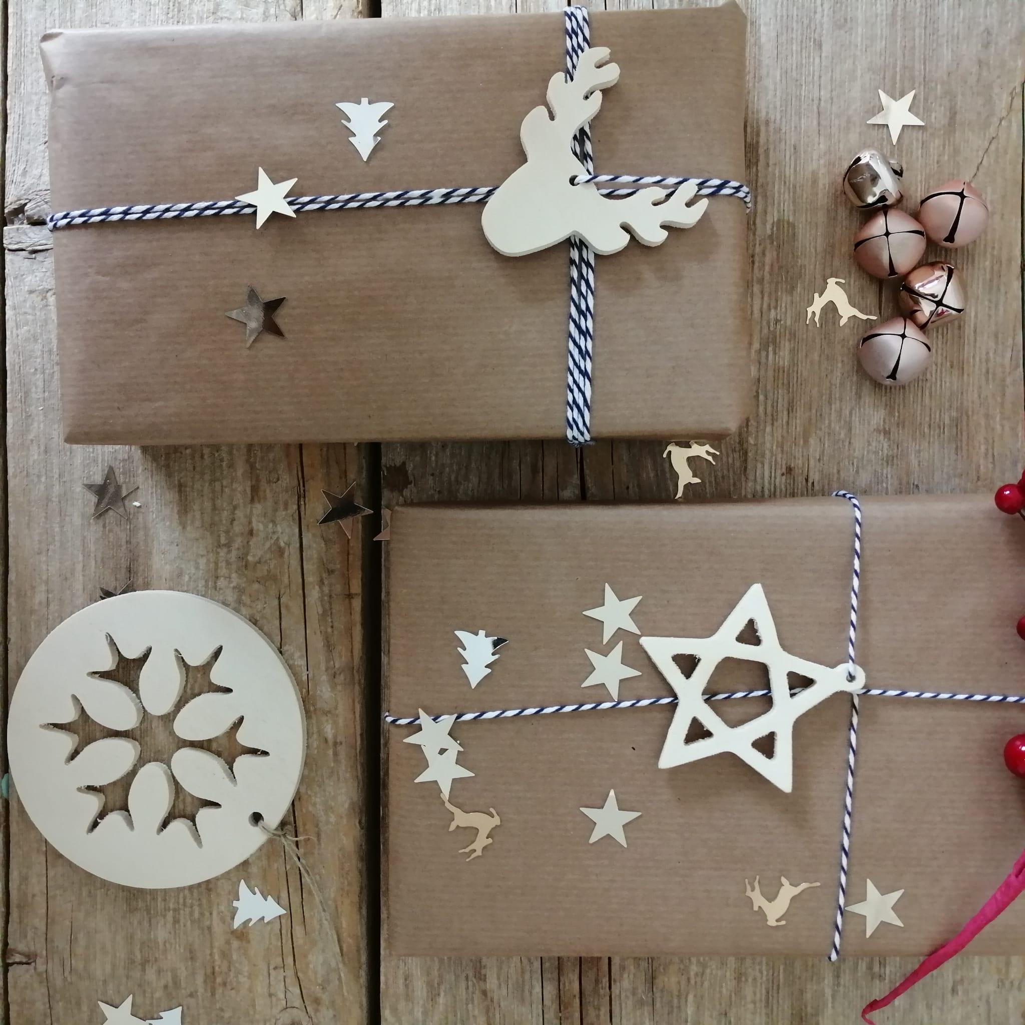 adornos de madera para navidad