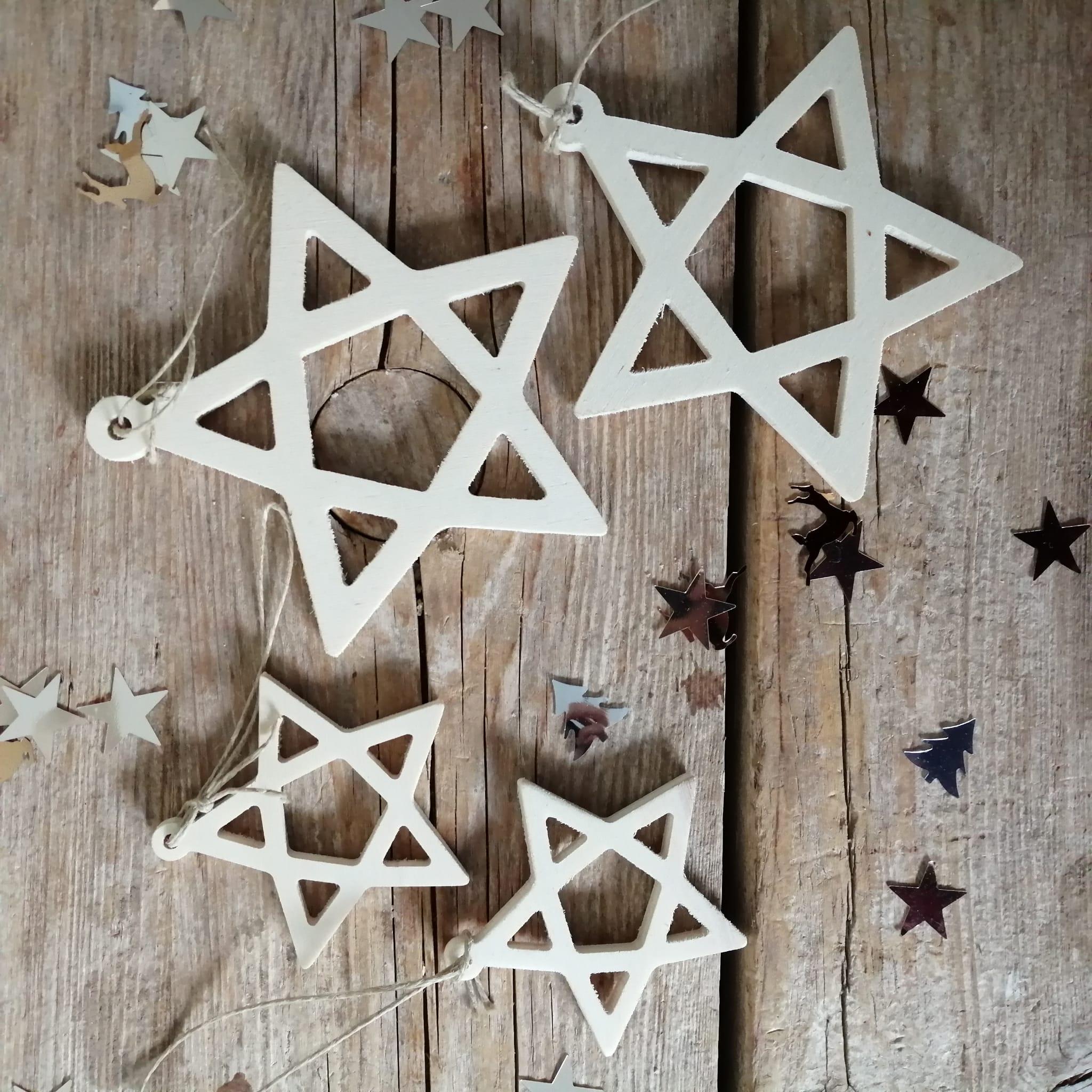 Adornos Navidad estrella de madera