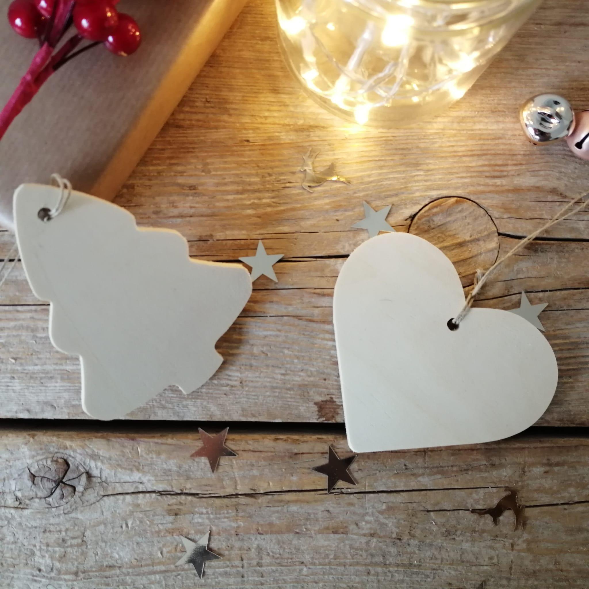 siluetas navideñas de madera