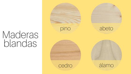 maderas blandas