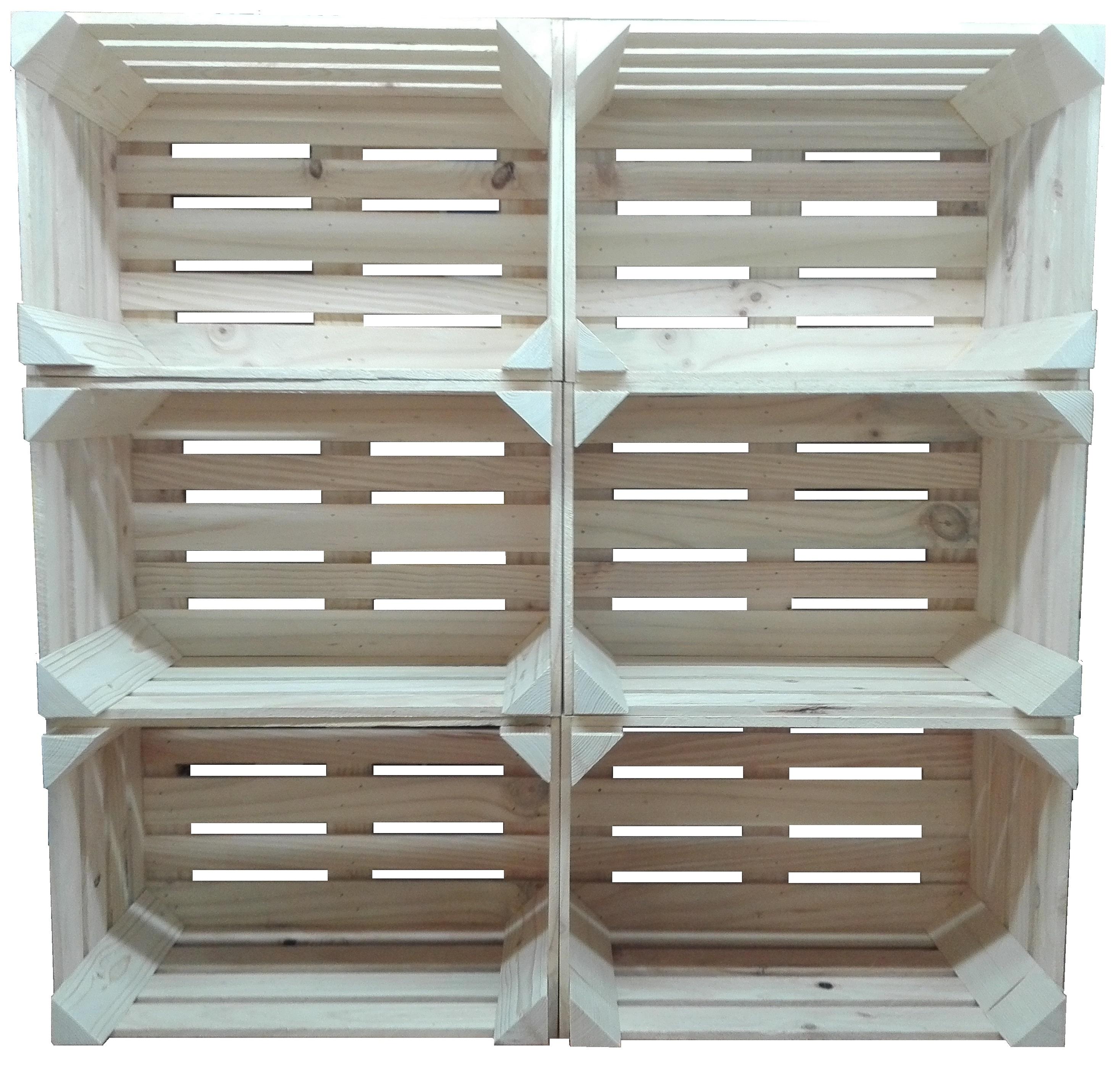 estantes cajas de madera