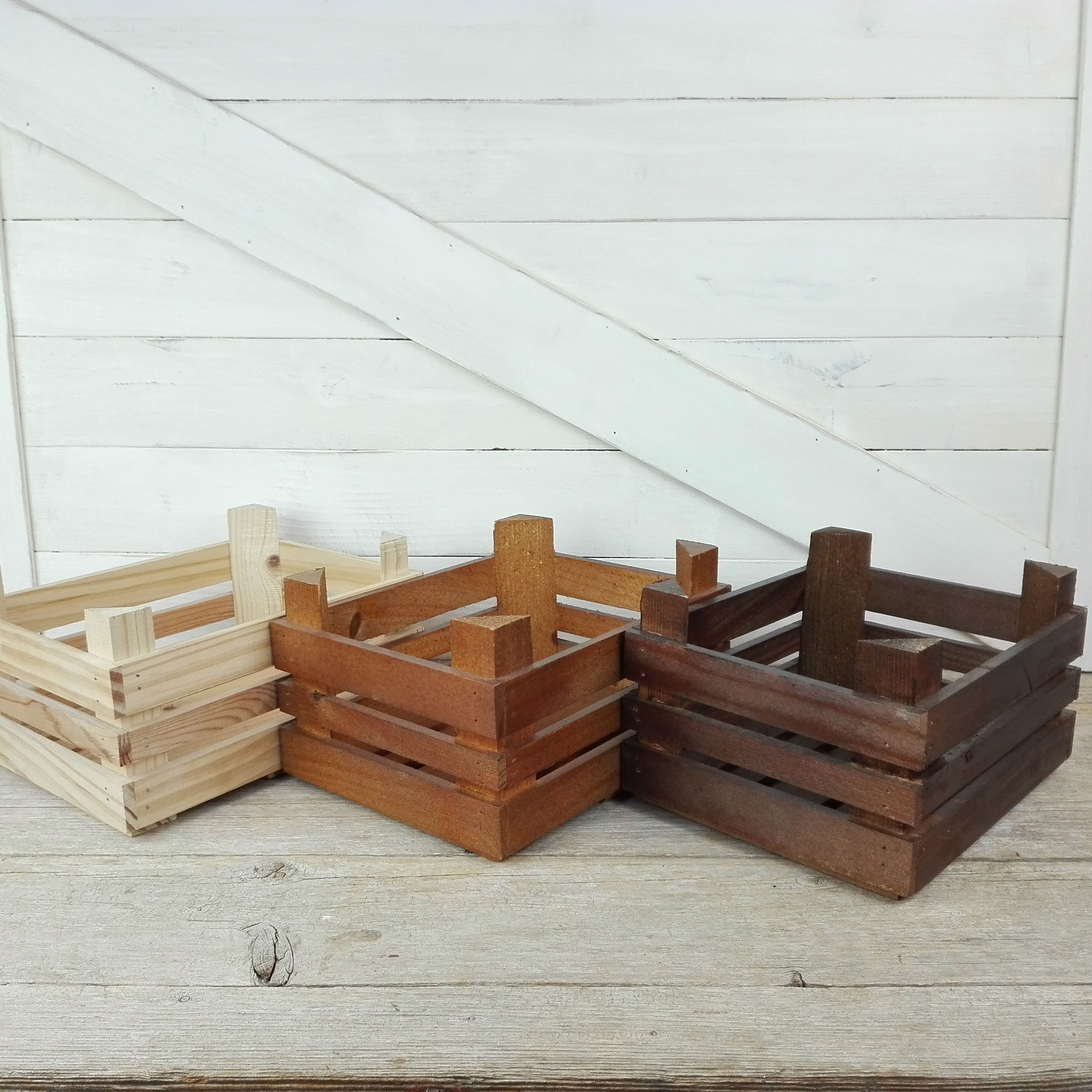 cajas de madera envejecidas