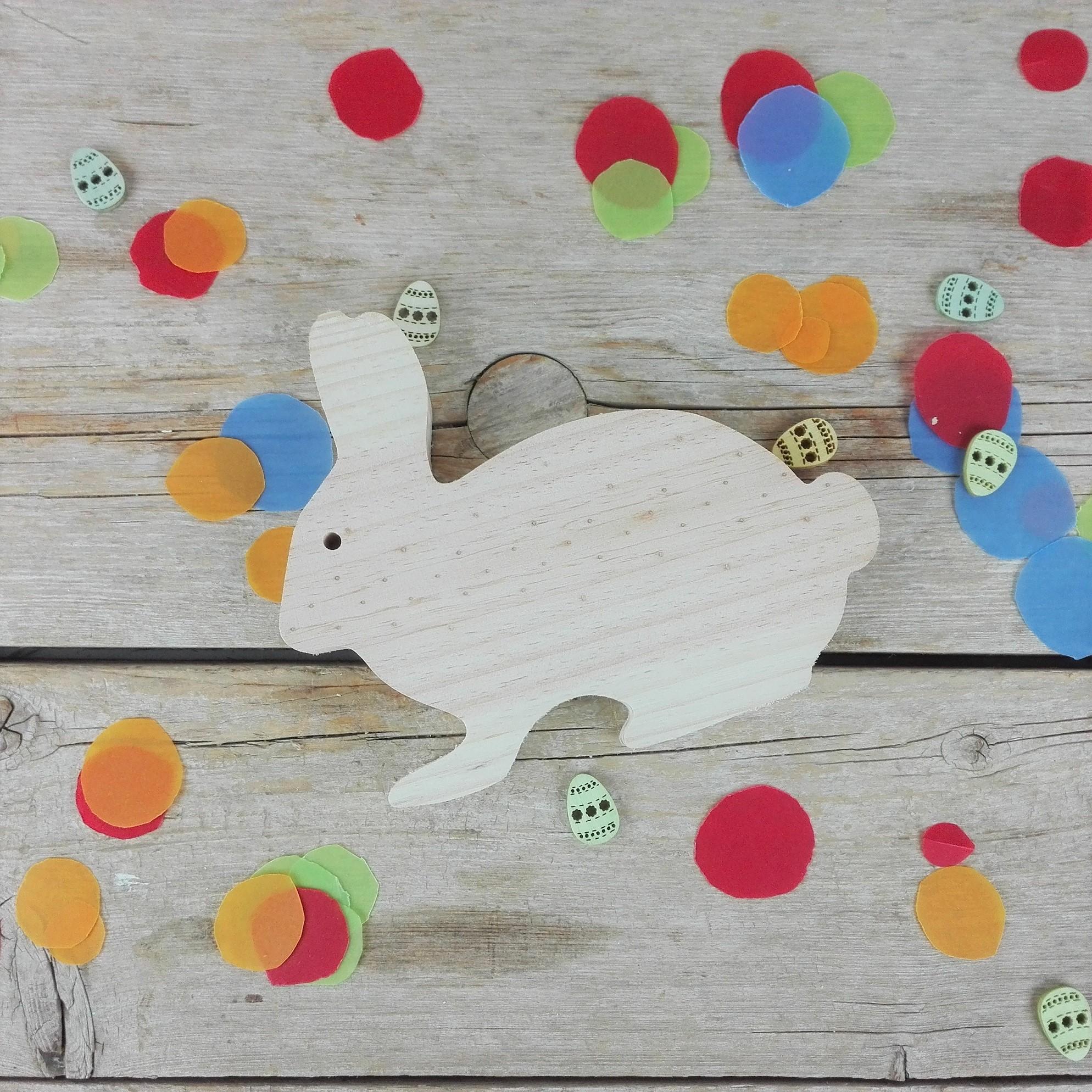 conejo de madera decoracion