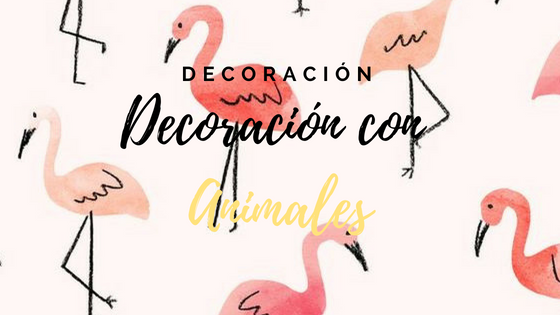 decorar con animales de madera