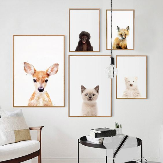 decorar paredes animales