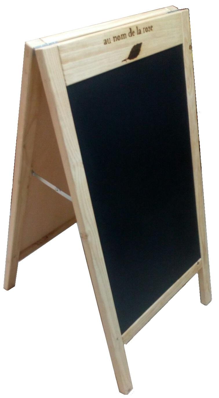 Pizarra de madera de doble cara