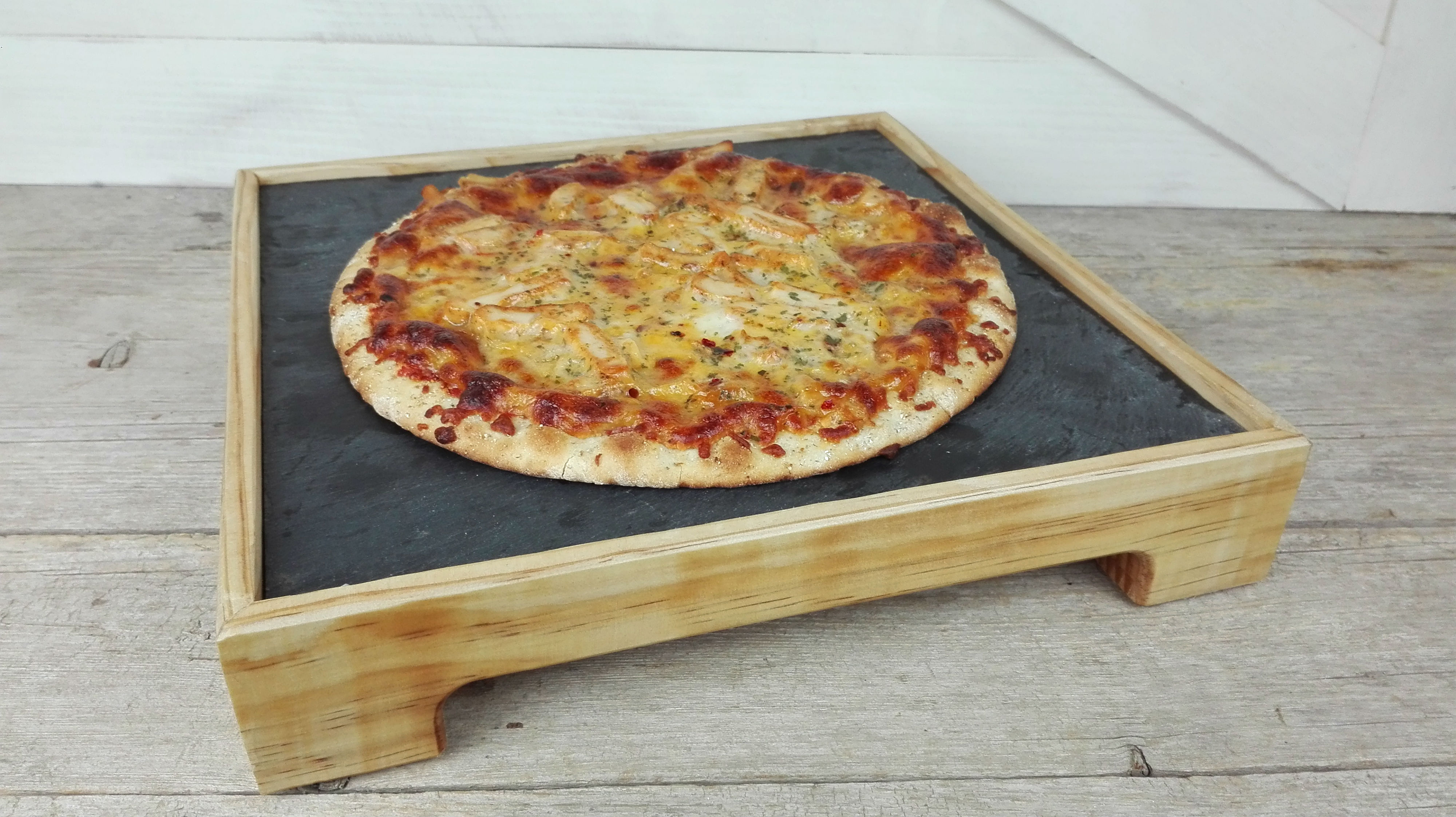 tabla madera pizarra pizzas