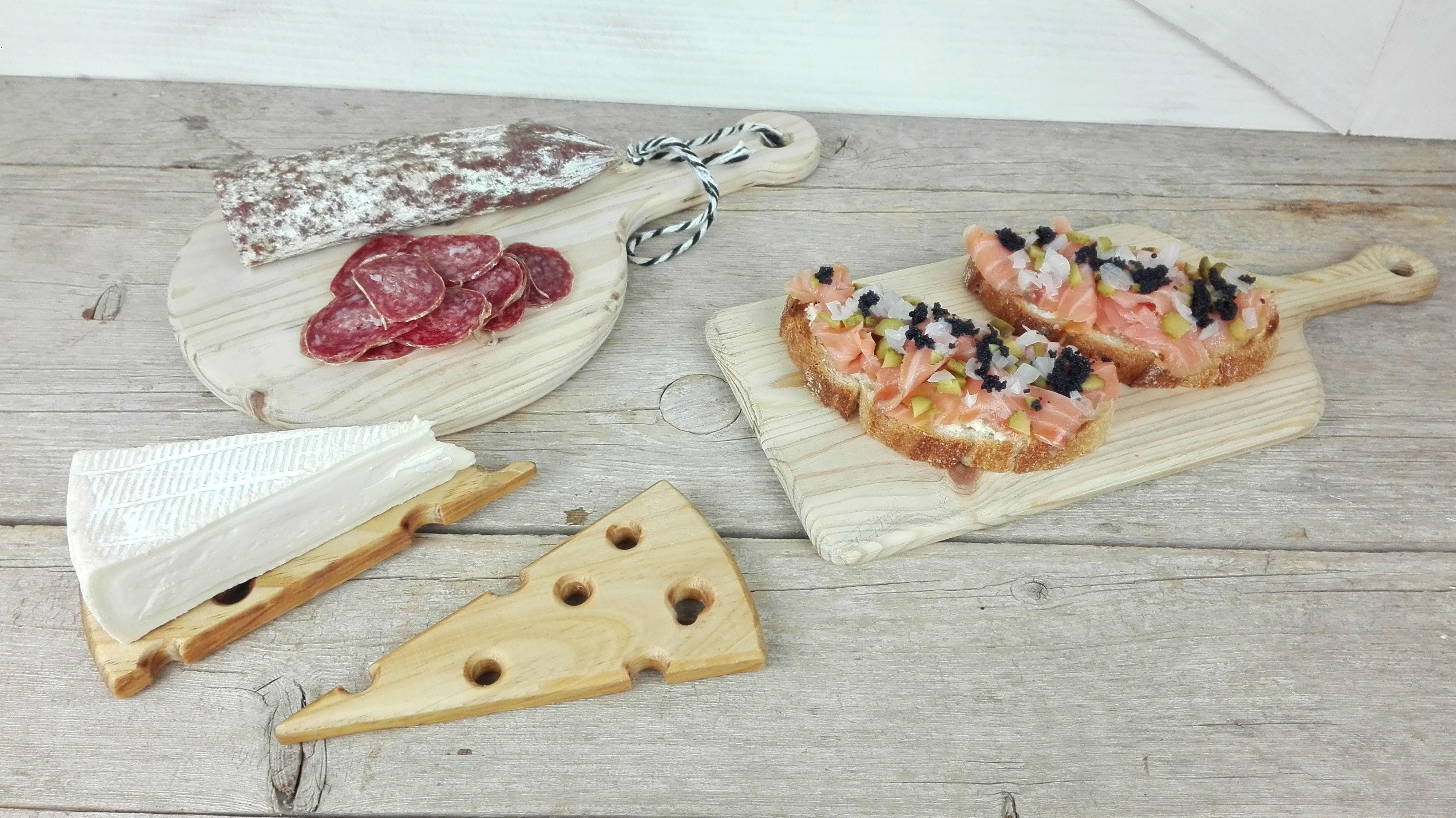 tablas madera servir comida