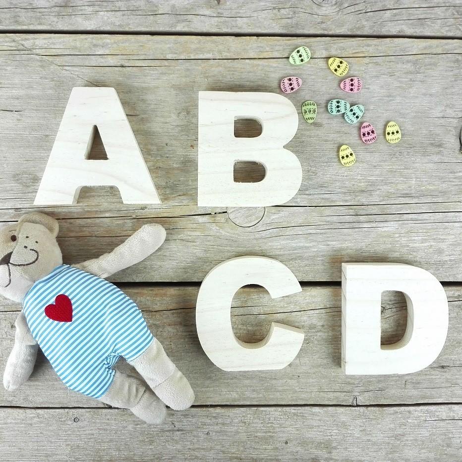 letras decoracion madera