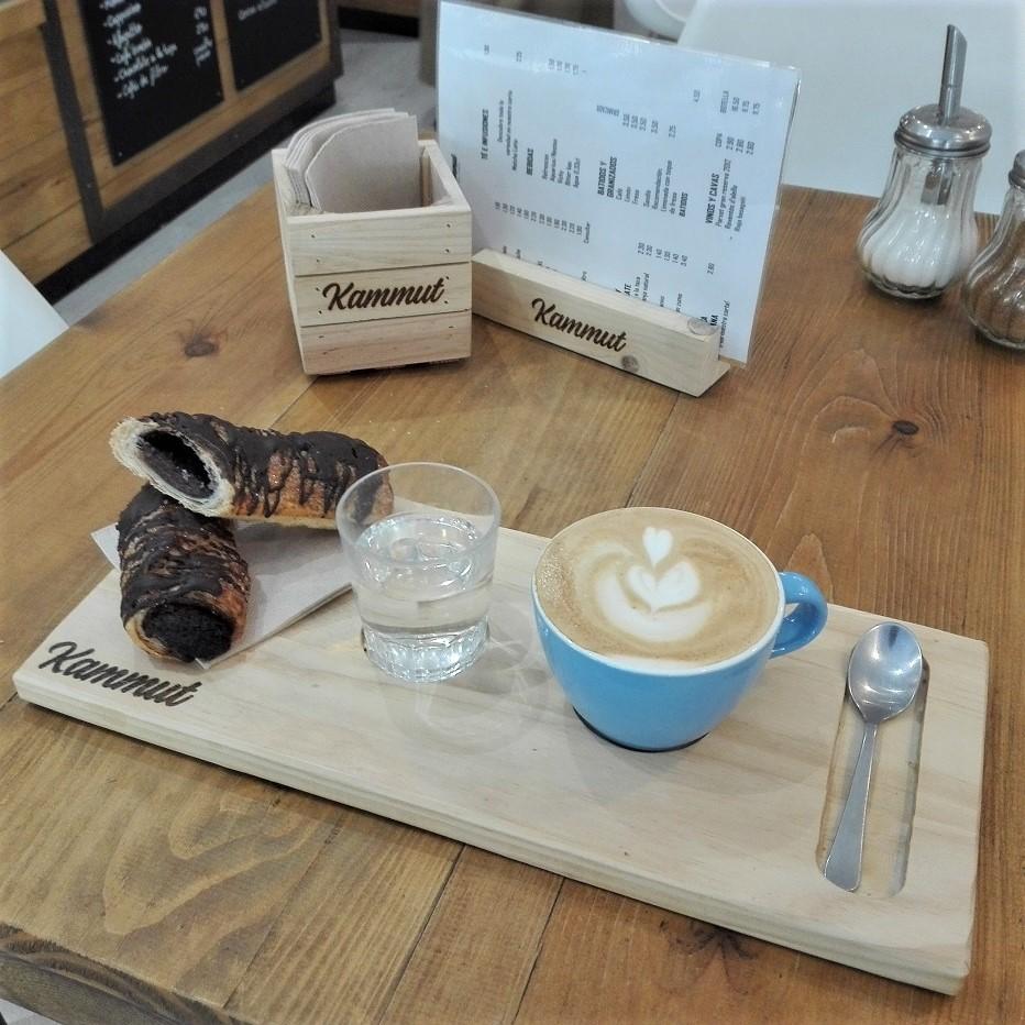 Tabla madera para cafe