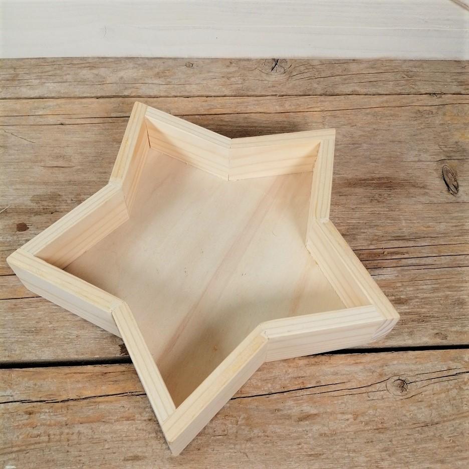 Bandeja de madera estrella