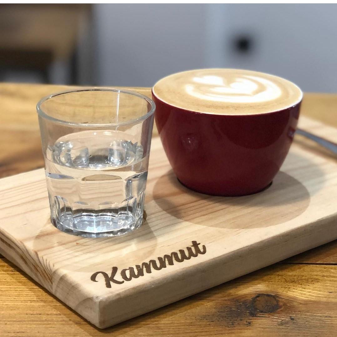 Tabla de madera para tazas