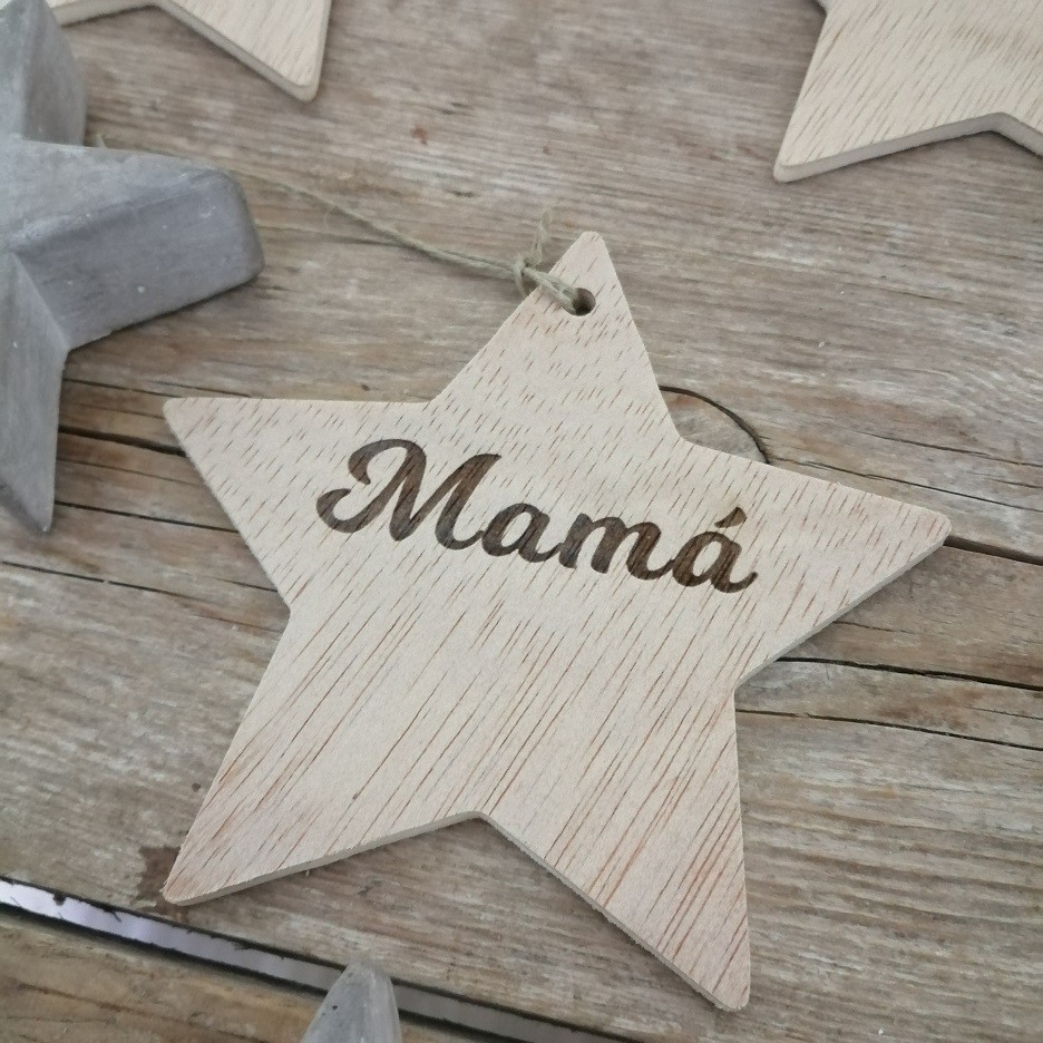estrellas navidad madera