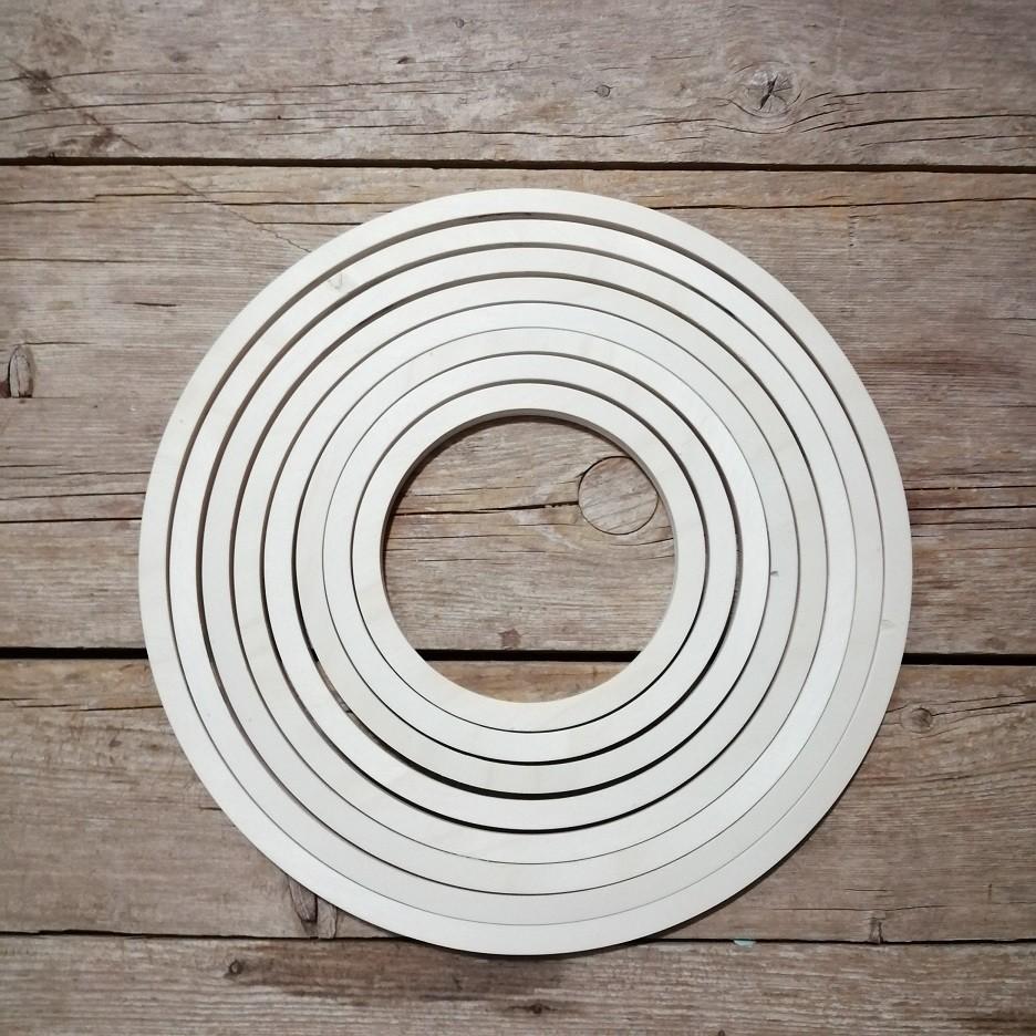 Aros de madera manualidades (Pack 8 piezas)