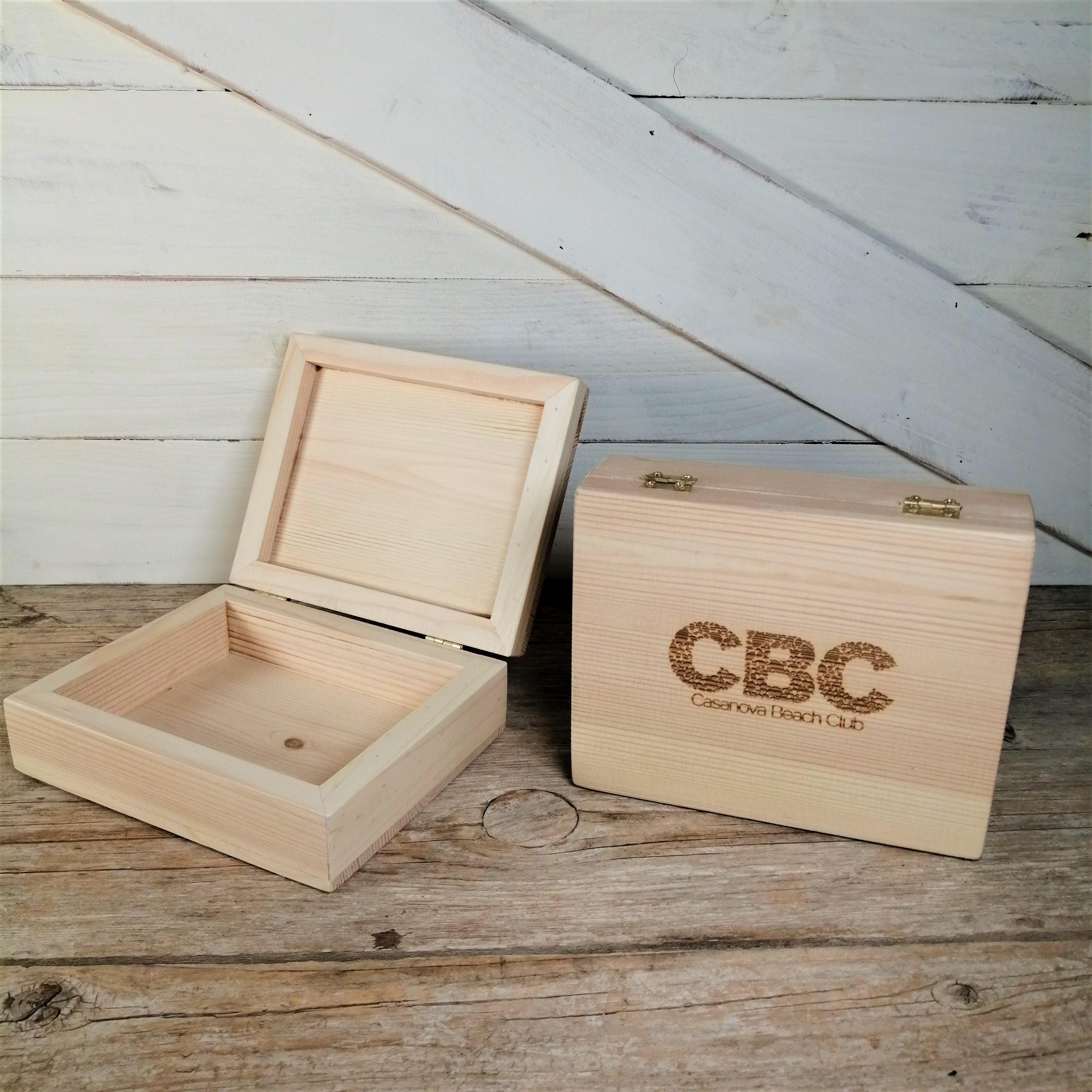 Caja portafacturas madera