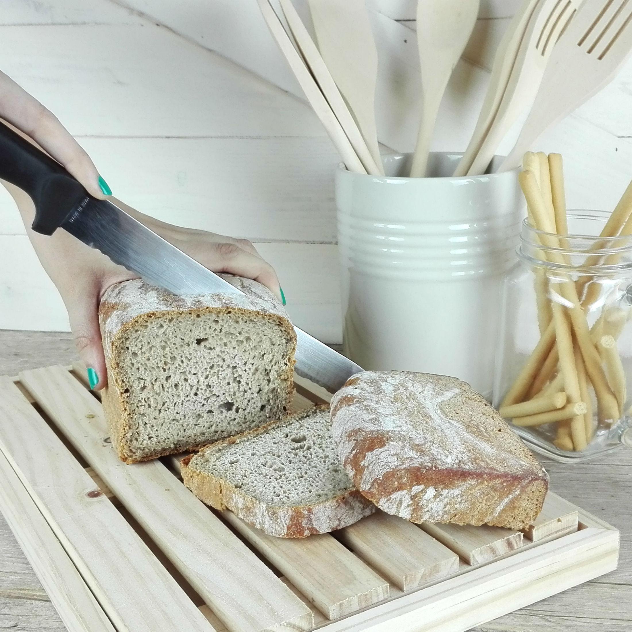 tabla de cortar el pan de madera