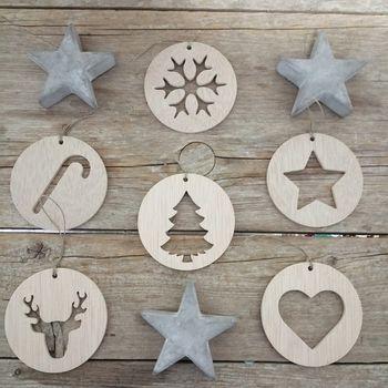 adornos navideños madera