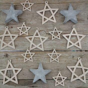 estrellas de madera navidad