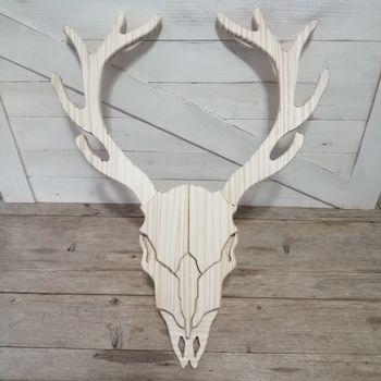 craneos animal de madera