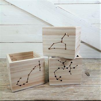 portavelas madera zodiaco