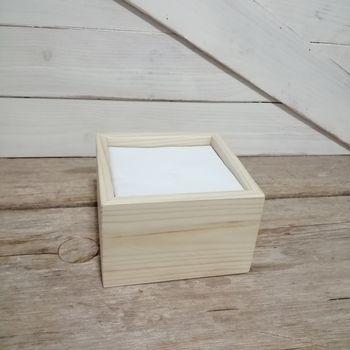 Servilletero de madera (servilletas cóctel 10x10cm)